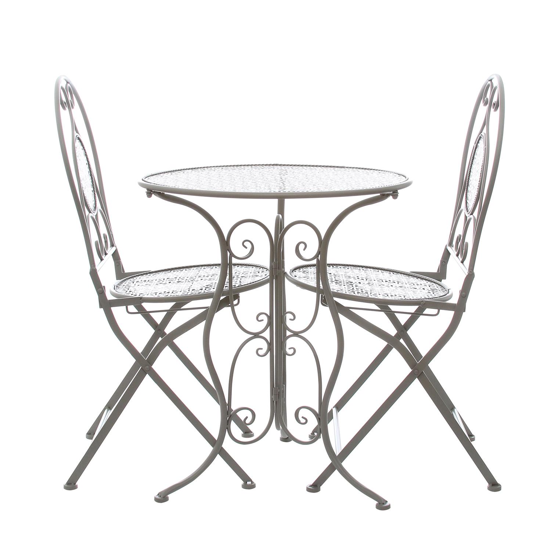 Tavolo Giardino In Ferro.Set Tavolo E 2 Sedie Da Giardino In Ferro Ebay