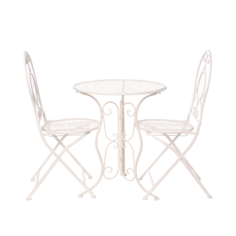 Sedie In Ferro Battuto Pieghevoli.Set Tavolo Con 2 Sedie Pieghevoli In Ferro Ebay