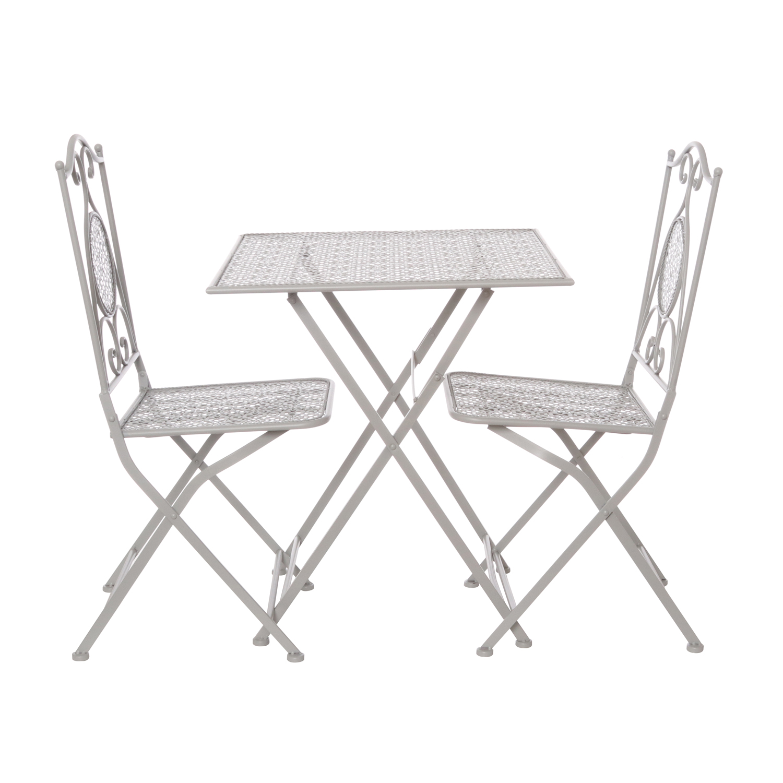 Sedie Pieghevoli Ferro Battuto.Set Tavolo Con 2 Sedie Pieghevoli In Ferro Ebay