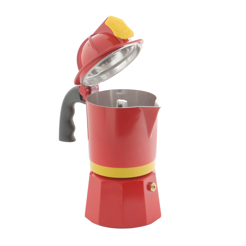 Caffettiera Pompiere in alluminio da 3 tazze