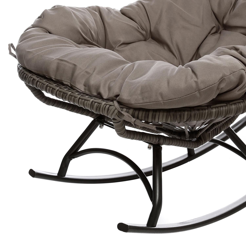 Sedia a dondolo in metallo con cuscino da 82x88x110 cm ebay - Cuscino per sedia a dondolo ...